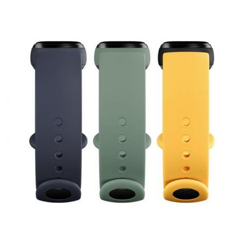Apyrankė XIAOMI Mi Smart Band 5/6 Strap (3vnt.) (Blue, Yellow, Green)